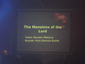 The Mansions of the Lord, 25 februari 2016